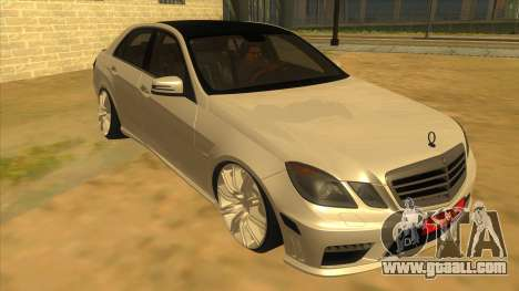 Mercedes Benz E250 Authority Tool for GTA San Andreas back view