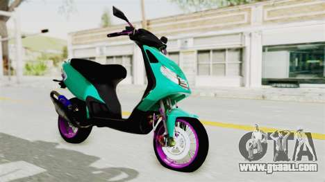 Piaggio 200 CC Lockstyle for GTA San Andreas back left view