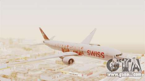 Boeing 777-300ER Faces of SWISS Livery for GTA San Andreas back left view