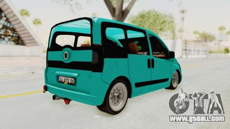 Fiat Fiorino Hellaflush v1 for GTA San Andreas back left view