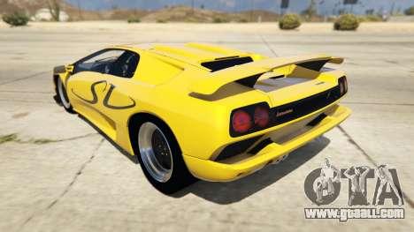 Lamborghini Diablo SV 1997 for GTA 5