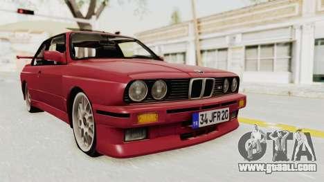 BMW M3 E30 1988 for GTA San Andreas