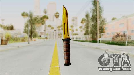 Knife Gold for GTA San Andreas second screenshot