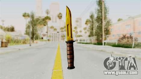 Knife Gold for GTA San Andreas second screenshot