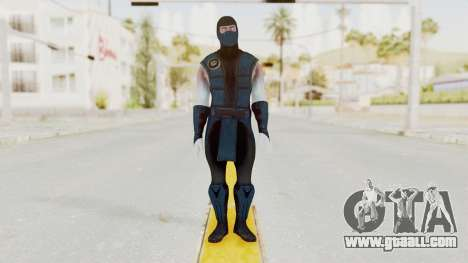 Mortal Kombat X Klassic Sub Zero v2 for GTA San Andreas second screenshot