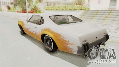 GTA 5 Declasse Sabre GT2 IVF for GTA San Andreas upper view