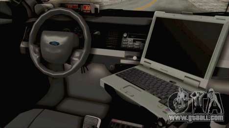 Ford Crown Victoria SFPD for GTA San Andreas inner view