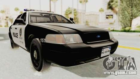 Ford Crown Victoria SFPD for GTA San Andreas right view