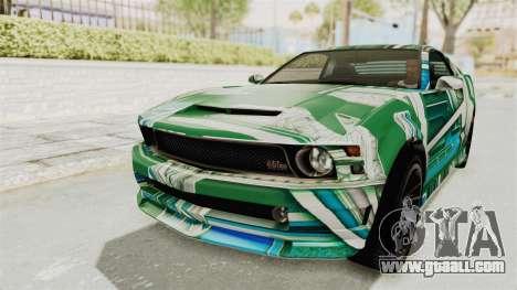 GTA 5 Vapid Dominator v2 IVF for GTA San Andreas wheels