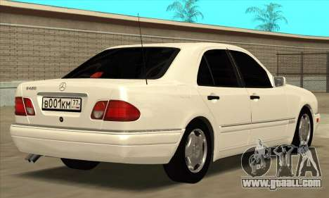 Mercedes-Benz E420 W210 for GTA San Andreas back left view