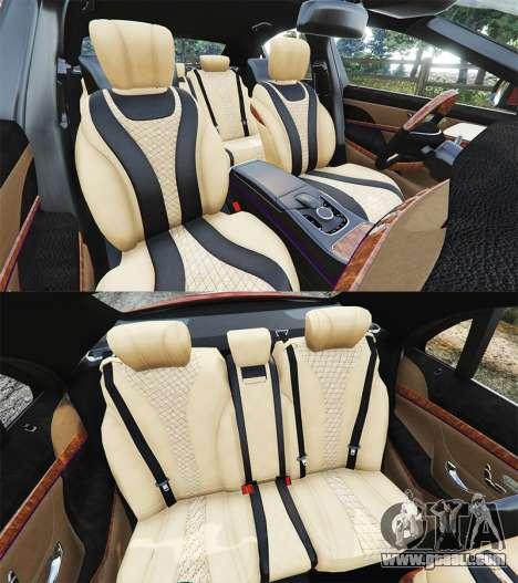 GTA 5 Mercedes-Benz S500 (W222) [bridgestone] v2.1 steering wheel