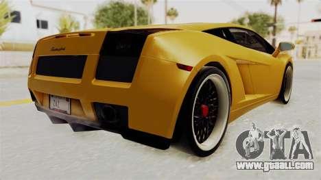 Lamborghini Gallardo 2005 for GTA San Andreas right view