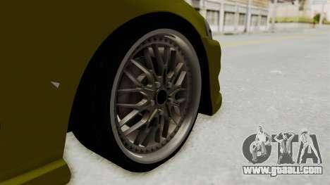Honda Civic Fast and Furious for GTA San Andreas back view