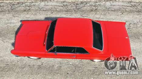 GTA 5 Pontiac Tempest Le Mans GTO 1965 v1.1 back view