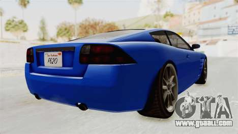 GTA 5 Ocelot F620 IVF for GTA San Andreas right view