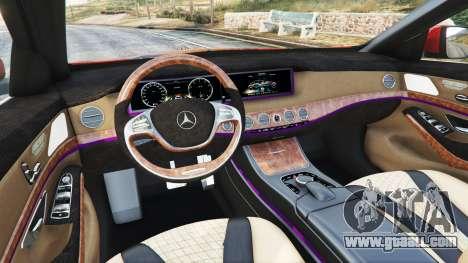 GTA 5 Mercedes-Benz S500 (W222) [bridgestone] v2.1 front right side view