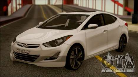 Hyundai ELANTRA 2015 STOCK for GTA San Andreas left view