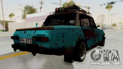 Wartburg 353 Rat Style for GTA San Andreas back left view