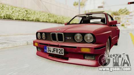 BMW M3 E30 1988 for GTA San Andreas right view