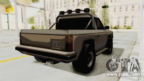 Rancher Style Bronco for GTA San Andreas back left view
