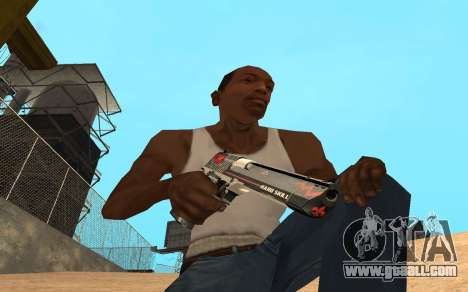 Desert Eagle Cyrex for GTA San Andreas second screenshot