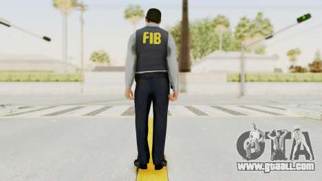 GTA 5 F.I.B. Ped for GTA San Andreas third screenshot