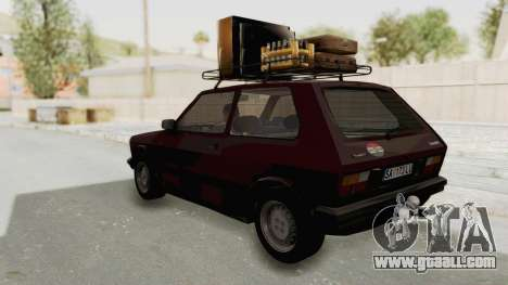 Zastava Yugo Koral 55 for GTA San Andreas back left view