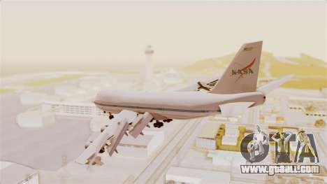 Boeing 747-123 NASA for GTA San Andreas back view