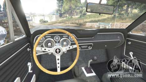 GTA 5 Ford Mustang 1968 v1.1 rear right side view