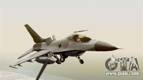 F-16 Fighting Falcon for GTA San Andreas