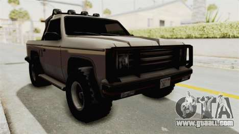 Rancher Style Bronco for GTA San Andreas right view