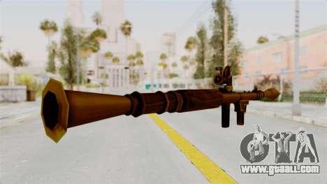 Rocket Launcher Gold for GTA San Andreas third screenshot
