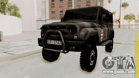 UAZ-3153 Hunter Serb forces for GTA San Andreas back left view