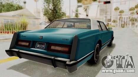 GTA 5 Dundreary Virgo Classic Custom v3 IVF for GTA San Andreas back left view
