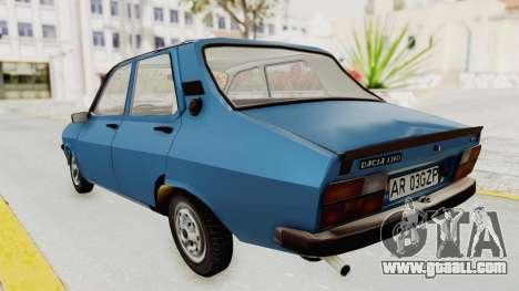 Dacia 1310 MLS 1988 Stock for GTA San Andreas back left view