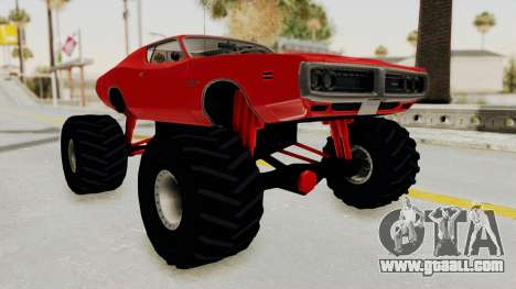 Dodge Charger 1971 Monster Truck for GTA San Andreas right view