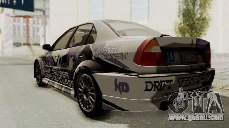 Mitsubishi Lancer Evolution VI Tenryuu Itasha for GTA San Andreas back left view