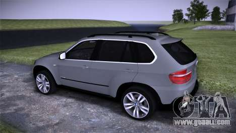 BMW X5 E70 for GTA San Andreas back view