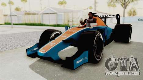 Rio Haryanto 88 F1 Manor Racing for GTA San Andreas