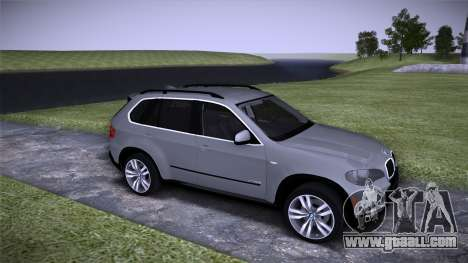 BMW X5 E70 for GTA San Andreas back left view