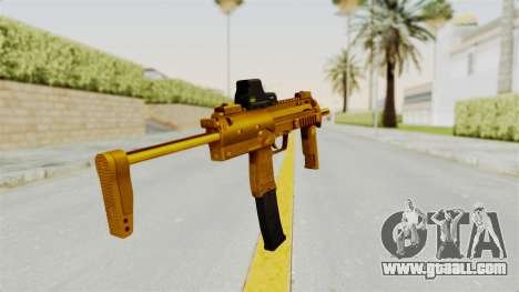 MP7A1 Gold for GTA San Andreas third screenshot