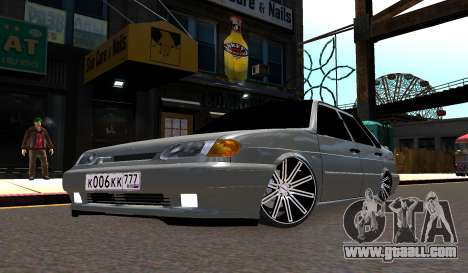 VAZ 2115 Vossen for GTA 4 left view