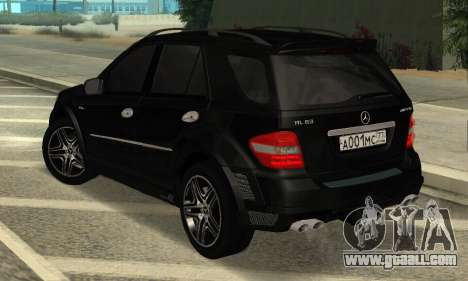Mercedes-Benz ML 63 AMG for GTA San Andreas back left view