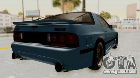 Mazda RX-7 FC3S for GTA San Andreas back left view