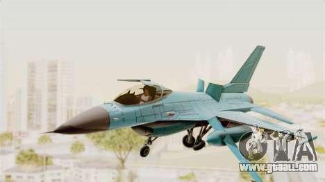 F-16 Fighting Falcon Civilian for GTA San Andreas back left view