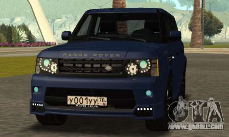 Range Rover Sport Tuning for GTA San Andreas back left view