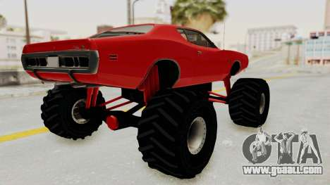 Dodge Charger 1971 Monster Truck for GTA San Andreas back left view