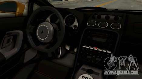 Lamborghini Gallardo 2005 for GTA San Andreas inner view