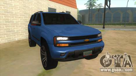 Chevrolet TrailBlazer for GTA San Andreas back view