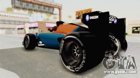 Rio Haryanto 88 F1 Manor Racing for GTA San Andreas right view